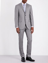 Corneliani Checked slim-fit wool suit