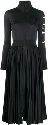 Valentino Pleated Midi Dress