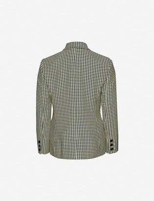 Me And Em Houndstooth-print single-breasted woven blazer