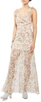 Topshop Women's Floral Ruffle Maxi Dress