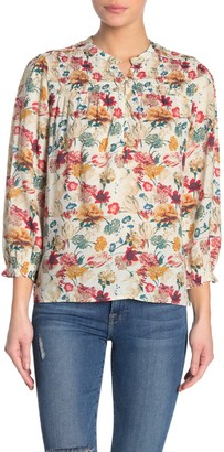 Lucky Brand Gemma Floral Smocked Blouse
