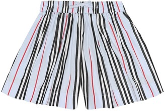 BURBERRY KIDS Icon stripe cotton shorts