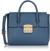 Furla Avio Grained Leather Metropolis Small Satchel Bag