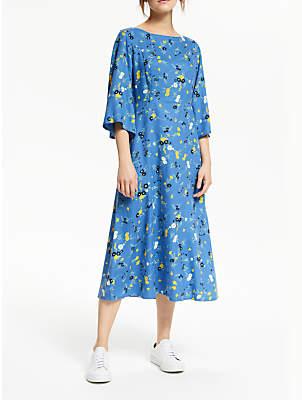 People Tree Matilda Floral Dress, Blue