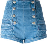 Pierre Balmain quilted effect shorts