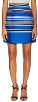 Les Copains Cotton Graphic Stripe A Line Skirt
