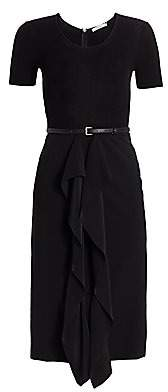 Max Mara Women's Rapace Knit Crepe Ruffle Sheath Dress
