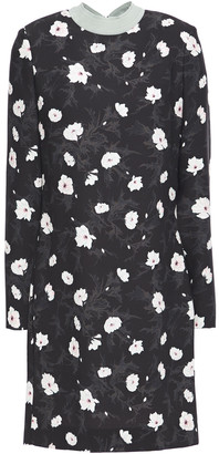 Carven Floral-print Crepe Mini Dress