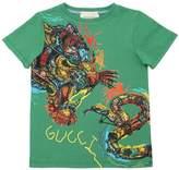 Gucci Tiger & Snake Cotton Jersey T-Shirt