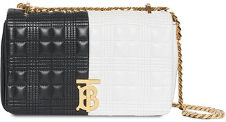 Burberry Small Quilted Two-Tone Cross Body Bag