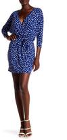 Loveappella Polka Dot Faux Wrap Dress