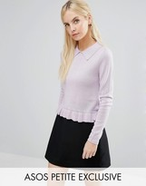 Asos Sweater with Collar in Metallic