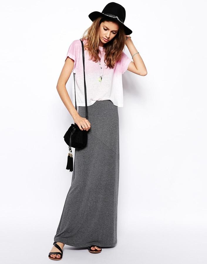 Asos Maxi Skirt In Bias Cut