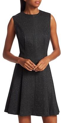 Theory Sleeveless Sparkle Seamed A-Line Dress