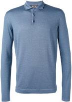 Loro Piana long sleeve polo shirt - men - Silk/Virgin Wool - 54