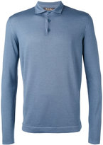Loro Piana long sleeve polo shirt - men - Virgin Wool/Silk - 48