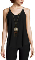 BY AND BY by&by Spaghetti Strap Necklace Tank