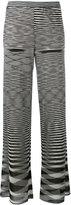 Missoni zig-zag pattern flares - women - Silk/Nylon/Spandex/Elastane/polyester - 40