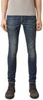 AllSaints Stamp Cigarette Slim Fit Jeans in Indigo Blue
