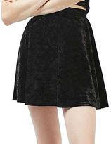Topshop PETITE Velvet Flippy Skirt