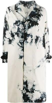 Suzusan Tie-Dye Mid-Length Coat