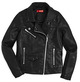 Aqua Girls' Faux-Leather Moto Jacket, Big Kid - 100% Exclusive