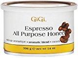 GiGi Espresso All Purpose Honee Wax 14 oz (Pack of 12)