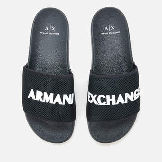 Armani Exchange Men's Slide Sandals - Blue/Optical White