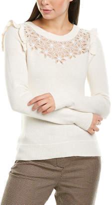 Rebecca Taylor Emilie Silk-Trim Wool-Blend Pullover