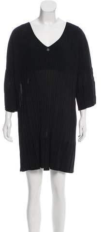 Chanel Short Sleeve Pleated Dress