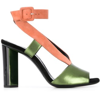 Pierre Hardy Linen colour-block sandals