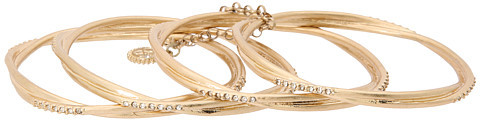 Jessica Simpson Gold Thin Stackable Bangle Set