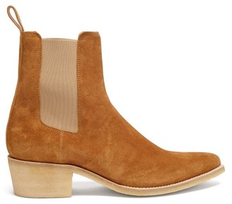 Amiri Point-toe Suede Chelsea Boots - Tan