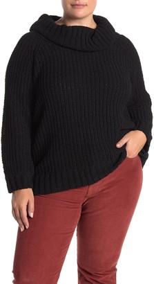 Grace Elements Cowl Neck Chenille Knit Sweater (Plus Size)