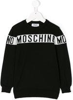 Moschino Kids intarsia logo sweater