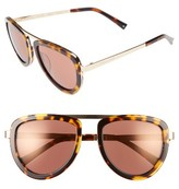 KENDALL + KYLIE Women's 53Mm Aviator Sunglasses - Dark Demi/ Shiny Gold