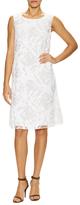 Lafayette 148 New York Palmer Cotton Textured Flared Dress