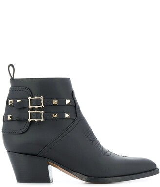 Valentino Rockstud 50mm ankle boots