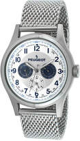 Peugeot Mens Stainless Steel Mesh Watch 1049S