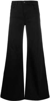 J Brand High Rise Flared Denim Trousers