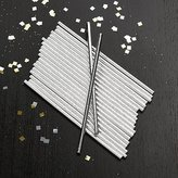 Crate & Barrel Party Silver Foil Straws, Set of 24