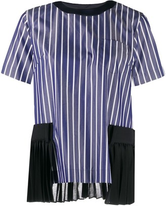 Sacai striped print T-shirt