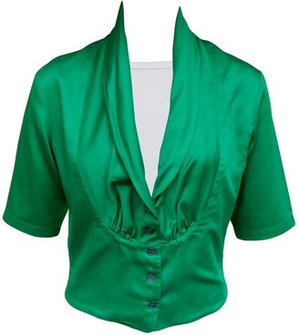 Kenzo Green Cotton Top for Women Vintage