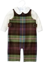 Ralph Lauren Infant Boys' Bodysuit & Plaid Overall Set - Sizes 3-24 Months