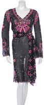 Temperley London Silk Embroidered Dress