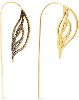 Noir Ember Gold-Tone Crystal Earrings