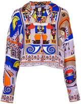 Emilio Pucci Printed Silk-Twill Top