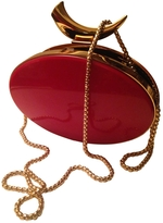 Giuseppe Zanotti Red Enameled Box Clutch