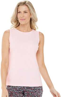 Croft & Barrow Women's Scallop-Trim Tank