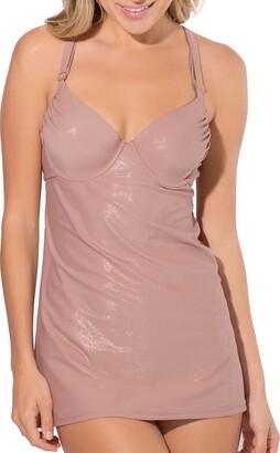 Smart & Sexy Women's Ruffle Bra Sized Tankini with Added Length